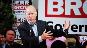 governor jerry brown campaigning