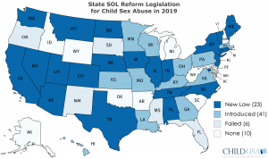 geographic chart of state sol reform legislation 2019